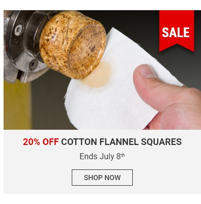 20% off cotton flannel squares - ends July 8