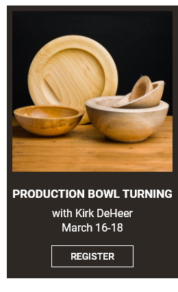 Production Bowl Turning with Kirk DeHeer