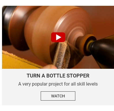 Turn a Bottle Stopper Video