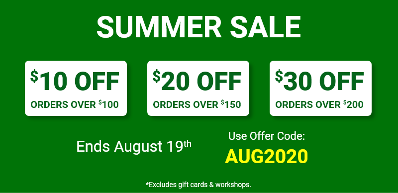Save up to $30 on your order with offer code AUG2020