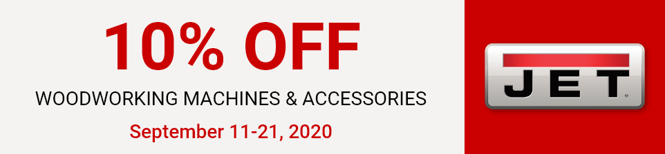 10 Percent Off Jet Machinery and Accessories