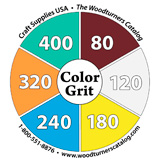 Color Grit Abrasives Reference Sticker