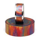 DiamondCast Ring Blank Oil Slick