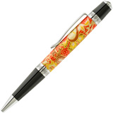 Hobble Creek Craftsman Chiyogami Japanese Paper Sienna Pen Blank Temptation