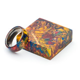 Hobble Creek Craftsman Mini Pine Cone Ring Blank Multicolor