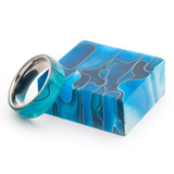 Turners Choice Acrylic Ring Blanks Caribbean Swirl