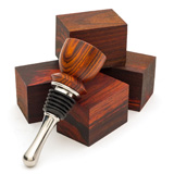 Turners Choice Bottle Stopper Blanks - 5 Pack Cocobolo
