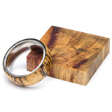 Turners Choice Stabilized Ring Blank Spalted Tamarind