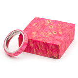 Turners Choice Stabilized Ring Blank Pink Dyed Box Elder Burl