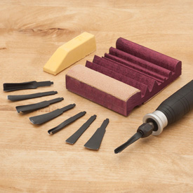 Foredom Deluxe Power Chisel 10 Piece Set