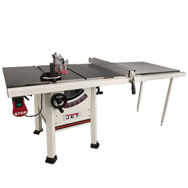Jet 10 proshop table saw 1 3 4 hp 52 fence cast wing jps for 10 jet table saw