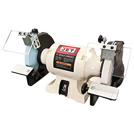 JET 8 Inch Slow Speed Bench Grinder with Grinding Wheels