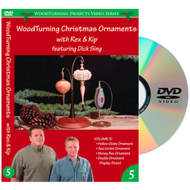 Learning Turning Woodturning Christmas Ornaments Volume 5 DVD