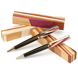 Pen Makers Choice Diagonal Cut Layered Pen Blank