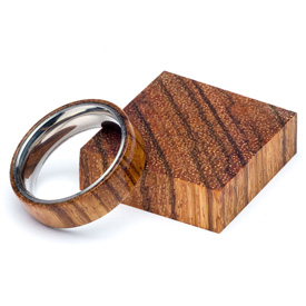 Turners Choice Stabilized Ring Blank Zebrawood