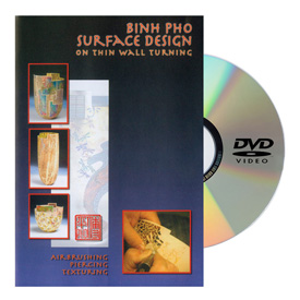 Turning Wood Productions Surface Design on Thin Wall Turning DVD